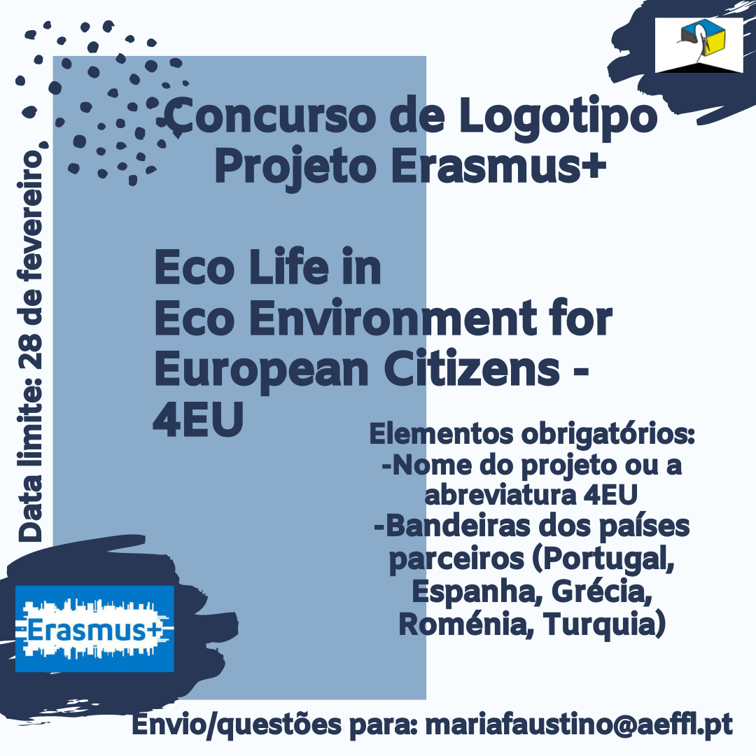 Concurso de Logotipo Projeto Erasmus Eco Life in Eco Environment for European Citizens 4EU